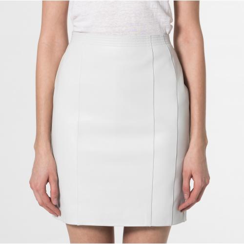 Falda de cuero Minerva blanco