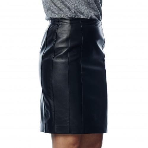 Falda de cuero Minerva negro