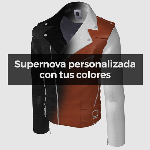 """Supernova"" Biker de cuero Personalizable"