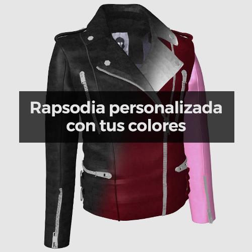 """Rapsodia"" Biker de cuero personalizable"