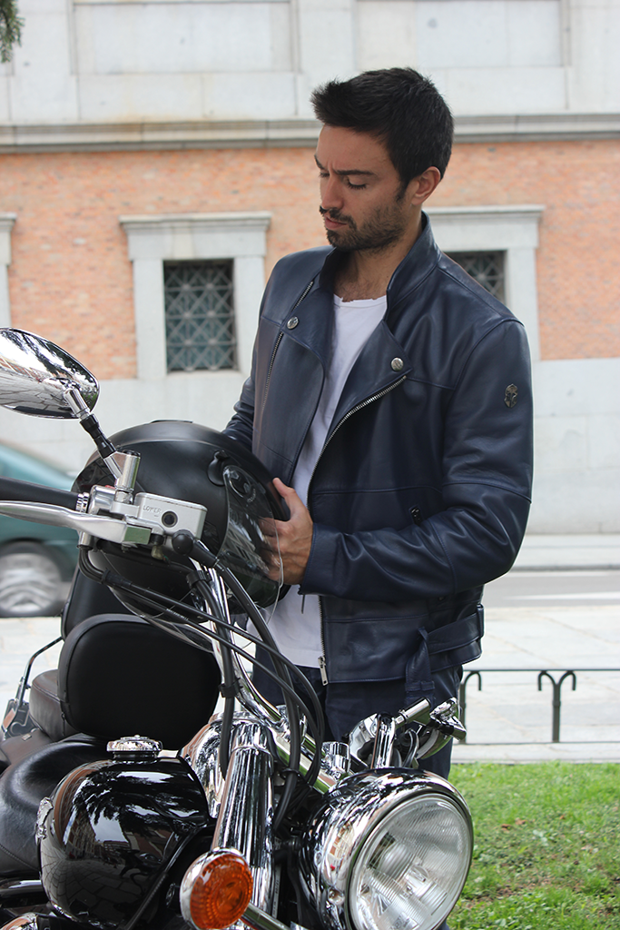 chaqueta cuero moto
