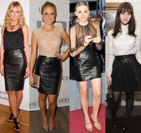 CHRISTMAS OUTFITS WITH LEATHER SKIRT