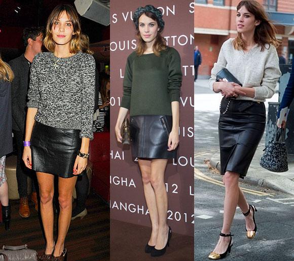 3 estilismos faldas cuero