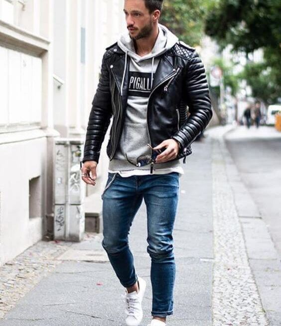 THREE WAYS TO WEAR YOUR LEATHER JACKET IN WINTER
